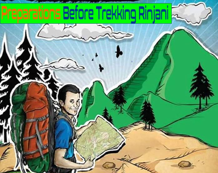 Rinjani Trekking Tips before climb up to Mount Rinjani Lombok Indonesia. Mount Rinjani on Lombok, West Nusa Tenggara