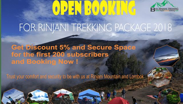 Open Booking For Rinjani Trekking Package 2018 Season
